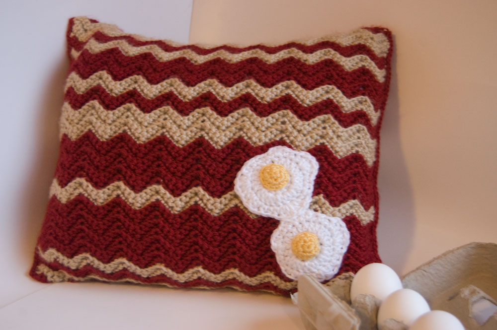 Free Crochet Pattern Bacon Scarf : Delicious Crochet: 36 Free Crochet Patterns Inspired by ...