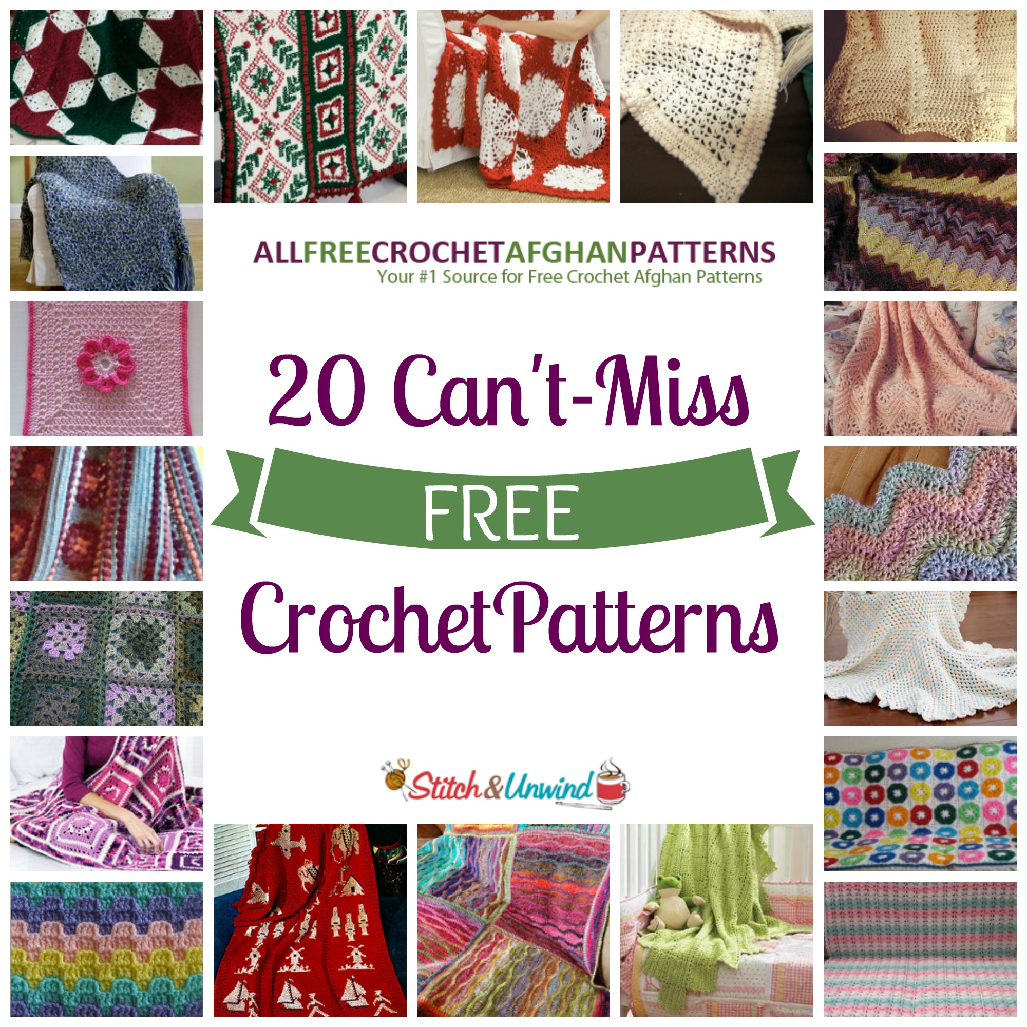 Find Free Crochet Patterns Online : 20 Cant-Miss Crochet Patterns - Stitch and Unwind