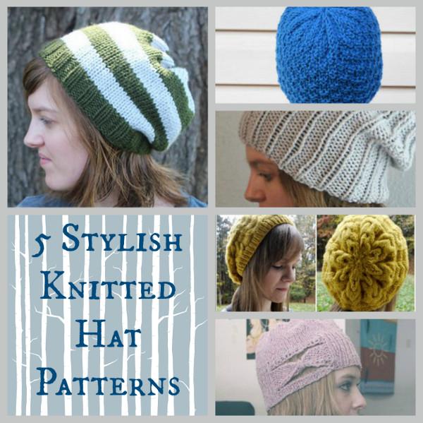 Knit Hat Pattern Us 10 : 5 Stylish Knitted Hat Patterns - Stitch and Unwind