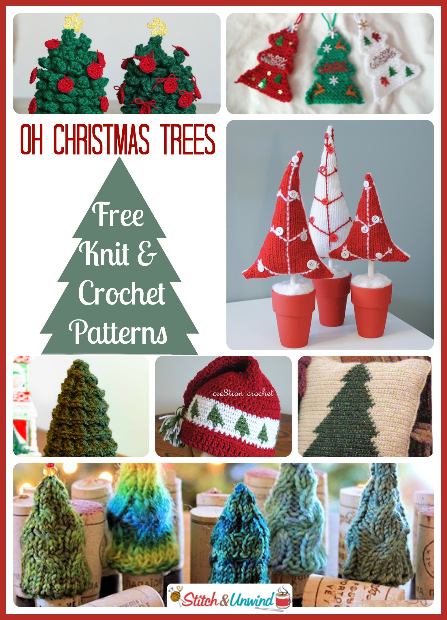 Free Online Christmas Crochet Afghan Patterns : Oh Christmas Trees: Lovely Knit & Crochet Patterns ...