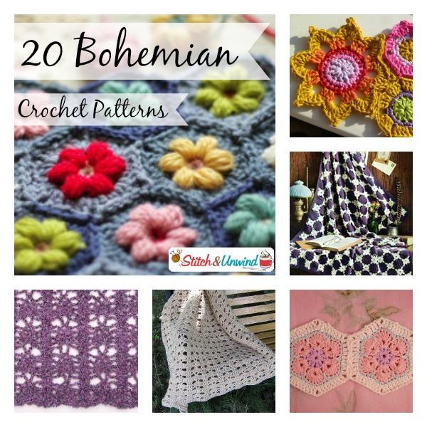 Bohemian Knitting Patterns : 20 Bohemian Crochet Patterns - Stitch and Unwind