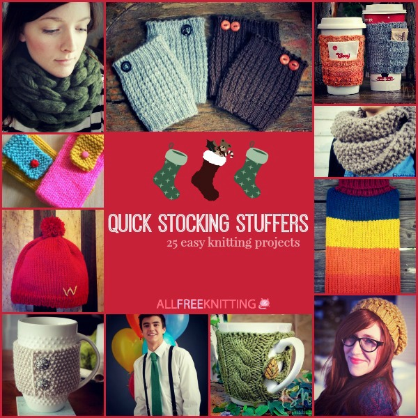 Easy Knitting Projects For Christmas Gifts : Quick stocking stuffers easy knitting projects