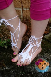 10 Barefoot Sandals compiled by KatiDCreations for AllFreeCrochet.com