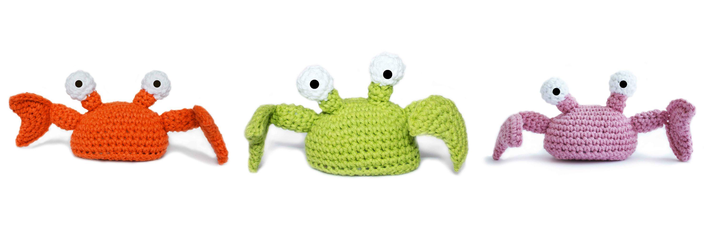 crabby patsy crochet toy
