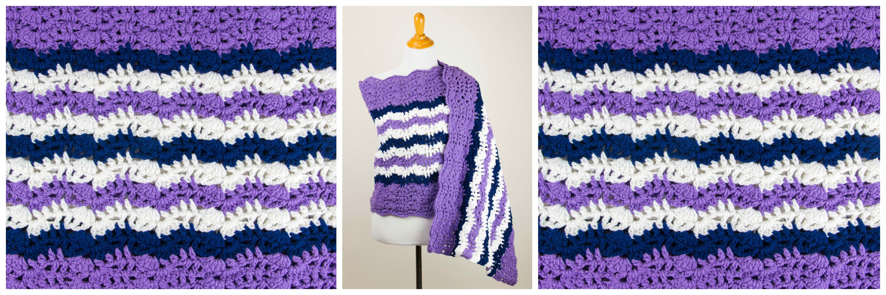 Printable Pattern: Free Crochet Prayer Shawl - Stitch and ...