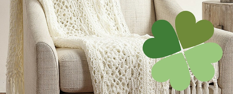 Irish Lace Crochet Afghan Pattern : Free Pattern Friday: Irish Lace Afghan from Yarnspirations ...