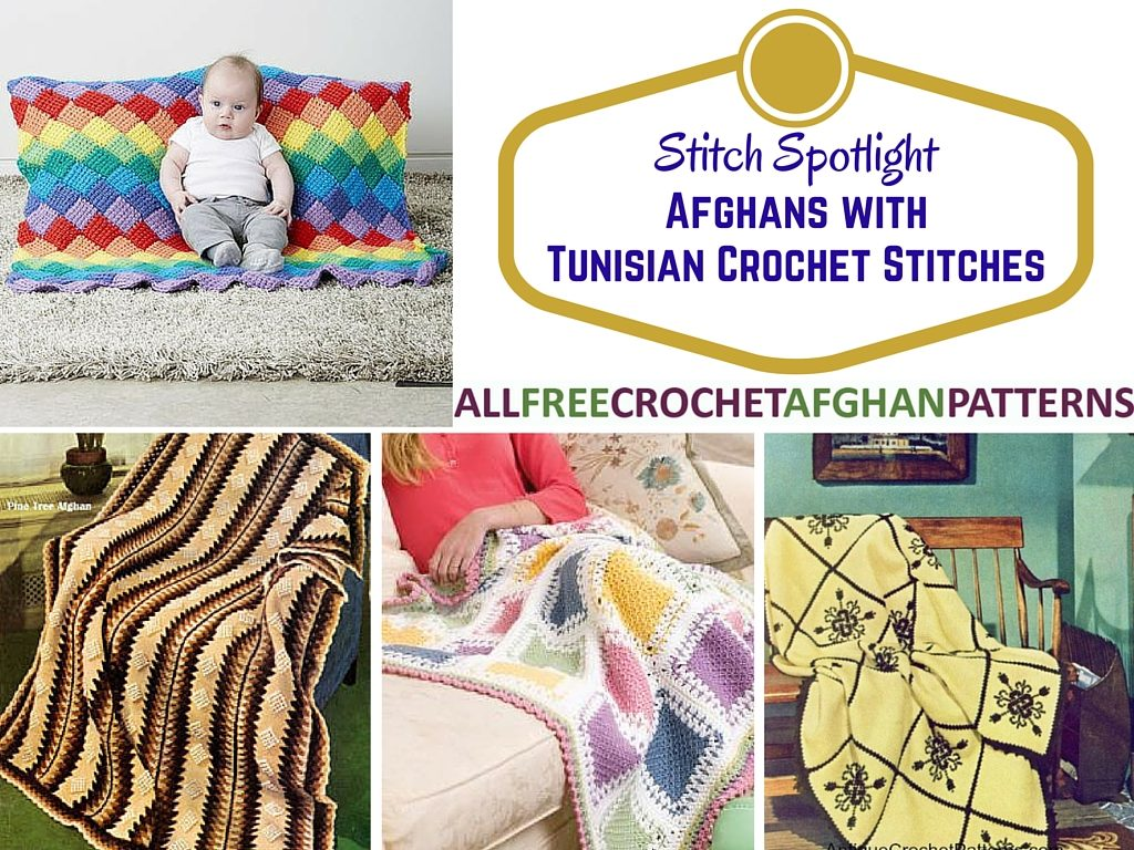 Stitch Spotlight: Afghans with Tunisian Crochet Stitches