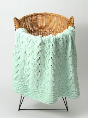 Soft Vines Baby Blanket