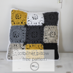 Squared Off Crochet Pillow