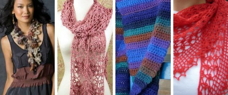20 New and Favorite Easy Crochet Scarf Patterns