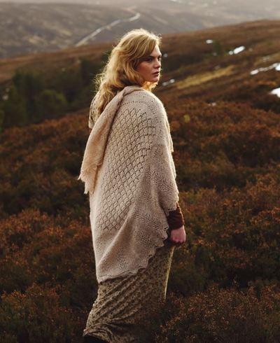 Scottish Moorlands Knit Wrap