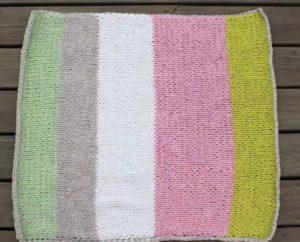 Beginner's Knitted Baby Blanket