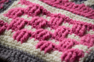 Groovy Berry Crochet Messenger Bag